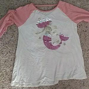Flip sequin mermaid shirt